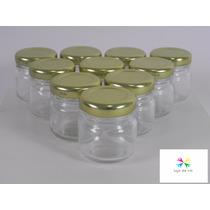 10 Potinhos De Vidro Redondo 40ml - Lembrancinhas