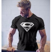 Camisas Super Homem-treino-academia De Musculação- Fitness