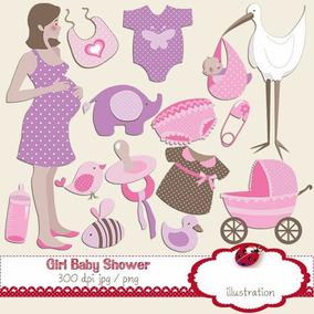 Kit Imprimible Bebe Niña Nena Baby Shower 15 Imagenes Clipar