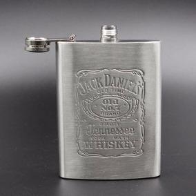 Cantil Jack Daniels 210ml Aço Inox, Porta Bebida, Relevo