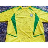 Camisa Oficial Do Brasil, Autografada Copa De 2002