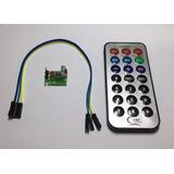 Kit Controle Remoto Ir + Receptor Tsop1838 + Cabos Arduino