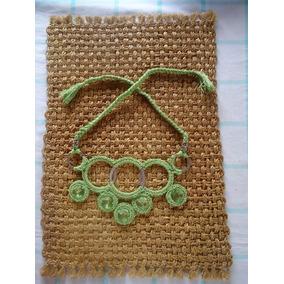 Mujer Collar Tejido Crochet Prolijos Excelente Terminacion