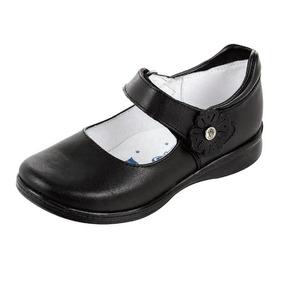Zapatos Escolares Mujer Bonita Para Niña Negro Modelo 1115