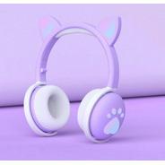 Audífonos Inalámbricos Para Niños Orejitas De Gato Con Luces