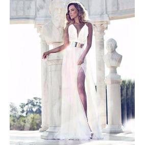 Vestidos Gala Largo Moda Matrimonio Boda Civil Fiesta Encaje