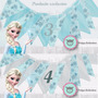Banderines En Tela Frozen Decorativos Fiesta Candy Bar