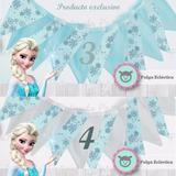 Banderines En Tela Frozen Decorativos Fiesta Candy Bar