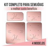 Kit 250 Tag Personalizada Bijuteria Semijoia Prata Completo