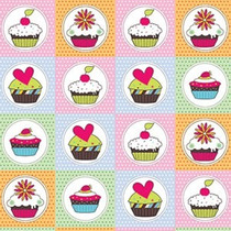 Papel Contact Estampado Original Cupcake Mania 45 Cm X 5 M
