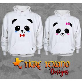 Sudadera Parejas Pandas Envío Gratis By Tigre Texano Designs