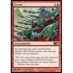 Carta De Magic The Gathering - Fervor - Vermelha - Em Ingles