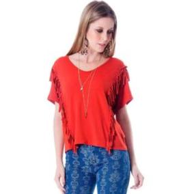 Lançamento Verão Blusa Feminina Despojada Com Franjas