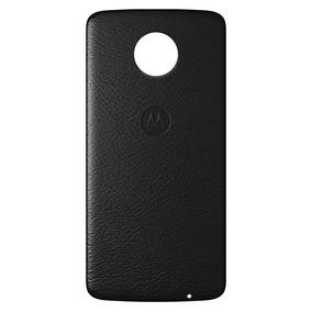 Moto Mods Funda Shell Piel Negro Motorola Para Moto Z
