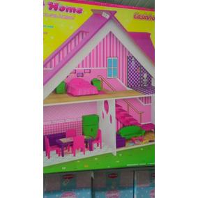 Casa De Bonecas Em Mdf Acompanha Móveis