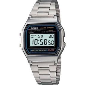 Reloj Casio A158 Moda Vintage Plateado