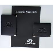 Kit Porta Manual Pvc+ Porta Doc.+ P Cartão Couro Eco Hyundai