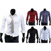 Pack X4 Camisas Entalladas Slim Fit Todos Los Talles !!!