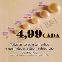 Cartelas Meia Pérola Ou Strass Adesiva 3,4,5,6,8,10mm
