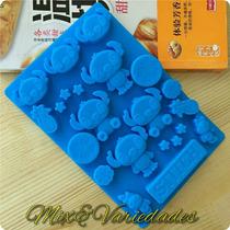 Molde Forma De Silicone Stitch Chocolate Sabonete Parafina