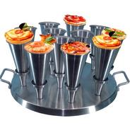 Forma Para Pizza Cone 14cm Alumínio 12 Pizzas Gastrobel