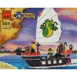 Exclusivo Barco Pirata Lego Compatible + 3 Figuras Sellado