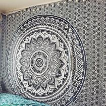 Manta Decorativa ** Black And White Mandala ** De Jaipur