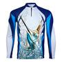 Camiseta Sublimada De Pesca Protecao Solar Kff32 Marlin Nf