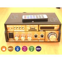 Mini Amplificador De Som Com Bluetooth Com Karaoke