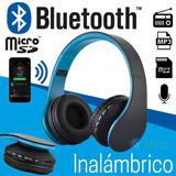 Audifonos Inalambrico Bluetooth Radio Fm Mp3 Micro Sd 4 En 1