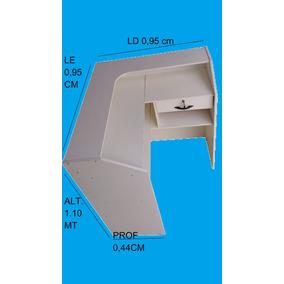 Balcão Caixa Recepção Loja Comercial Mdf Branco L