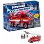 Camión De Bomberos Playmobil + 2 Muñecos + Luz Y Sonido