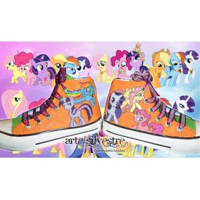 Botas Pintada/customizada My Little Pony