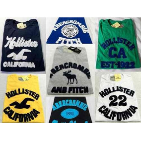 Kit C.10 Camisetas Abercrombie Aeropostale Hollister Bordada
