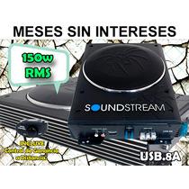 Soundstream Amplificador Con Subwoofer De 8pulg, 150w Rms.