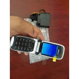 Nokia 6131 Negro Flip Phone. Libre. $1499