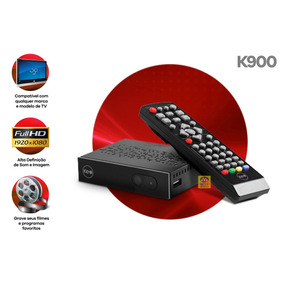 Conversor Tv Digital Receptor Hdtv Full Hd Gravador Keo K900