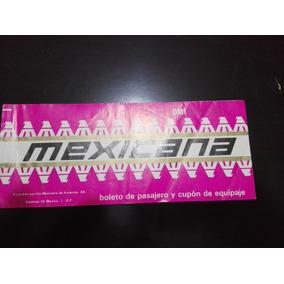 Boleto Antiguo De Mexicana
