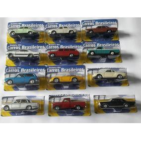 Coleção 12 Miniaturas Histórias Dos Carros Brasileiros