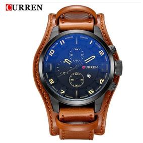 Relógio Curren 8225 Masculino Pulseira De Couro Promoção