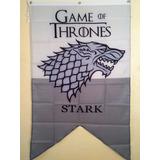 Bandera Juego De Tronos Game Of Thrones Casa Stark + Envío