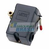 Pressostato Automático Compressor Lefoo 100/140 Alta 4 Vias