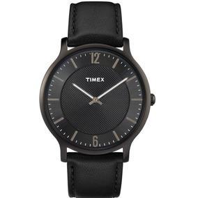 81f4f568f0bb Reloj Timex Skyline Slim Tw2r50100 Piel Negro Para Caballero