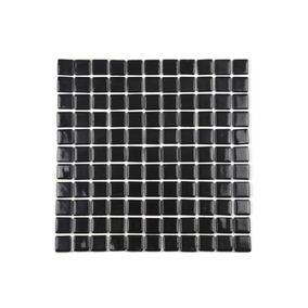 Pastilha De Vidro Ecológica Preto 30x30 Cm 1 Peça
