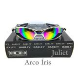 Oculos Juliet Cromada X Metal Lente Arco Iris Double X 24k 8ebd1e5220
