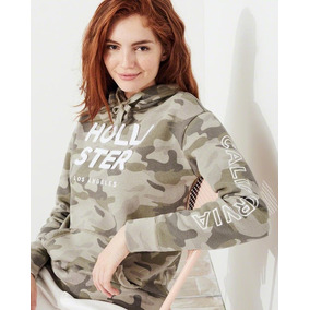 Hollister By Abercrombie Buzo Canguro Sweater Hoodie Capucha
