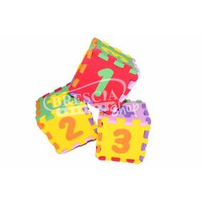 Pack 50 Pzas Cubo Dado Con Numeros De Foamy Fomi + Envío