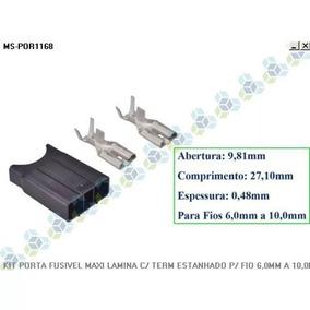 Krros - Kit Porta Fusivel Maxi Lamina P/ Fio 6mm A 10mm