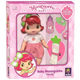Brinquedos Menina Boneca Moranguinho C/ Acessórios Mimo 4006