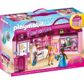 Playmobil Fashion Girls Art. 6862 Tienda De Moda Maletin